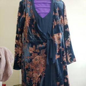 Anthropologie wrap velvet dress
